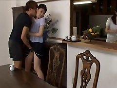 Asian women seduced and sexed in stockings