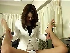 Chinese Doctor In Glasses Uses Strap on