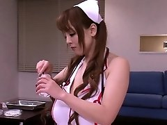 Huge-titted japanese nurses in medical threeway fun