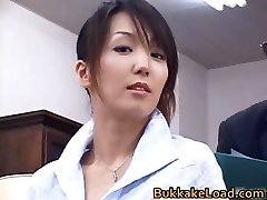 Magnificent real asian Shiho getting jism part3