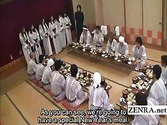Titl Japanski milf grupa blagovaonom, predigra party