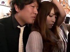 Noro Japonski dekle Kokomi Sakura v Vročih Fingering, Javnih JAV posnetek