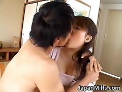 Horny japanese MILFS sucking and tearing up