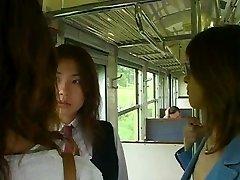 Labāko 3 Japāņu Meitenes Mēle Kissing Seksa Ainas