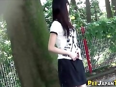 Japanese teen urinate public