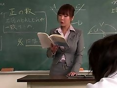 Tutor gets her face creamed by her schoolgirl