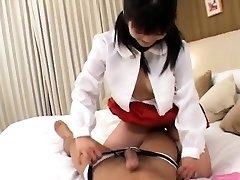 Yuria sucks impaler and has cooter drilled