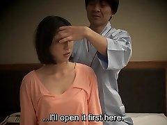 Subtitruota Japonijos viešbučio masažas, oralinis seksas nanpa HD