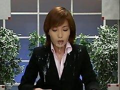 Japonijos Naujienos su Cumshots. Scena 2