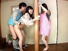 Subtitled Asian risky lovemaking with voluptuous mother in law