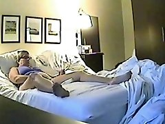Covert sex webcam filmed a horny minx jilling off
