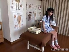 Hot Chinese teen likes the art of erotic massage
