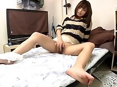 Sizzling and creamy Japanese masturbation