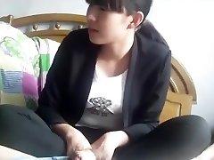 Chinese northeast middle school girl handjob and foot wank