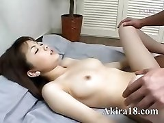 Japanese guy munching super hairy pussy