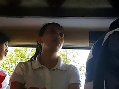 Boso sa jeep. HRM college girl...SARAP ng white panty mo miss!