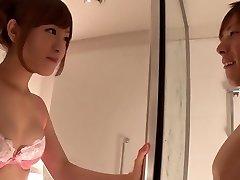Fabulous Japanese chick Minami Kiritani in Crazy couple, showers JAV scene