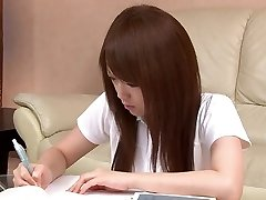 Sexy Japanese student loves toying with her pussy