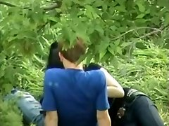 Asian Girl Playing With Russian Boyfriend Trouser Snake On Public