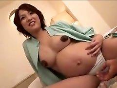 preggo Japan dame still gets fuck part 2