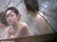 Hot spring voyeured figure expose