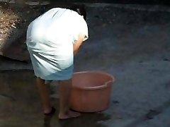 Stagging Indian Aunty Big Ass - Bend Over Butt - Donk Hidden Cam - Desi Candid
