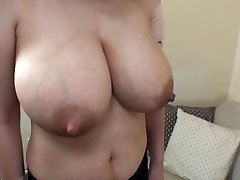 wifey's huge lactating boobs 1