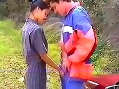 French asian rectal in the woods