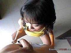 Tiny girl jizzed in