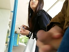 asian girl takes a look