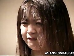 Loud arse Asian slut getting slapped and is corded up