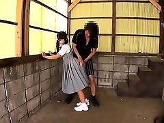 Japanese teenie giving a hot blowjob Maid