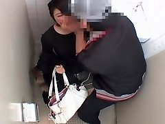 Long vagina plumbed hard by japanese penis in public toilet
