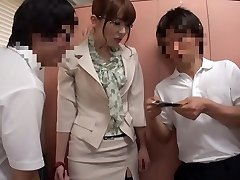 Horny Japanese model Yui Hatano in Best stockings, gangbang JAV clip