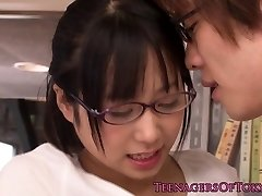 Guiltless asian firsttimer bore fucking in glasses