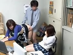 Voyeur video with naughty blowjob and japanese boinking