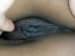 Closeup of my massive labia virgin pussy, bum and breasts