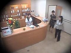 Two cute Asians screwed hard in voyeur rubdown video