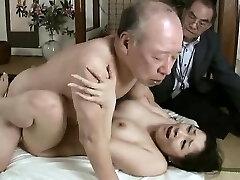 Hardcore grandpa bangs young babe