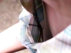 Adorable japanese dame gets filmed by voyeurs