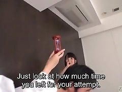 Subtitled JAV actor audition CFNM hand job explosive jizz flow