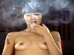 Exotic homemade Small Tits, Smoking porn vignette