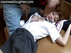 Cute blonde chinese teen assfucked hard