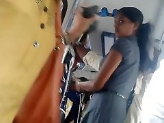 Sri lankan Ultra-cute office girl booty in bus