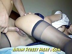 Butt Fucked haning On Asian Balcony