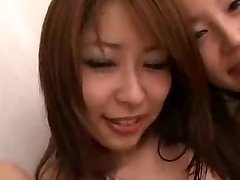 Japanese honeys and White guys in gang orgy