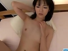 Ruri Okino tries wood in her throat and in her pussy