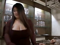 Asian bbw hj then strap on dildo