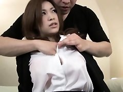 Handsome Japanese honey gets a taste of a hard cock in her tight we