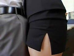 Extraordinaire Japanese girl Shizuka Kanno in Hottest Secretary, Facial JAV clip